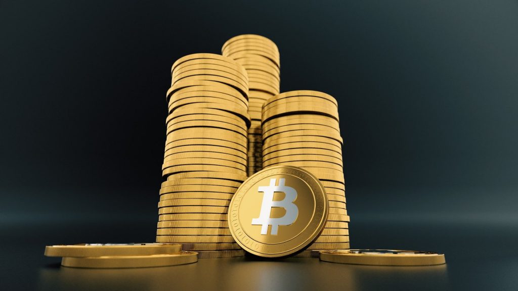 Stapel bitcoins